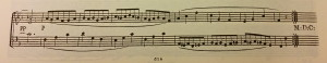 End of Trio-section, Mov. 3, Op. 2. No. 1