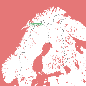 Location of Kiehuvuopio in Lapland